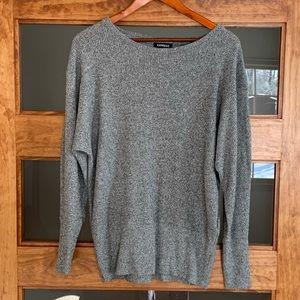 Express gray tweed sweater